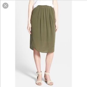 Madewell pull-on silk skirt